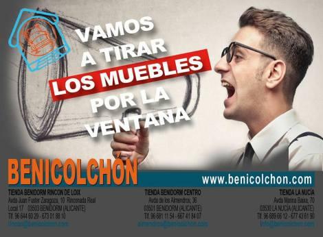 Vamos a tirar los mueblos por la ventana en Benicolchón