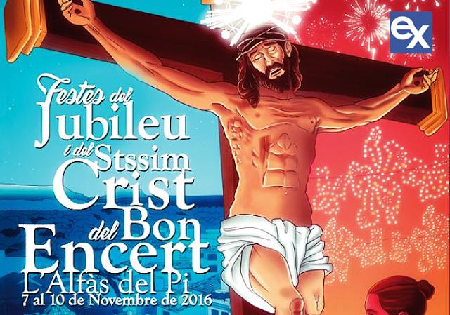 Resultado de imagen de carteles fiestas del santísimo cristo del buen acierto 2016 l´alfas del pi
