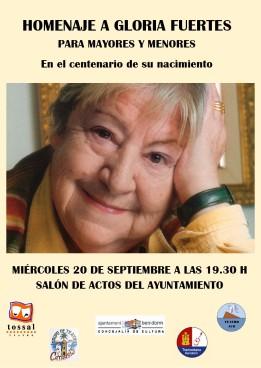 Homenaje a Gloria Fuertes -Miércoles, 20 septiembre 2017 Salón Actos Ayto. Benidorm