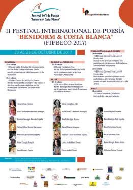 II Festival Internacional de Poesía Benidorm & Costa Blanca -del 23 al 28 octubre 2017