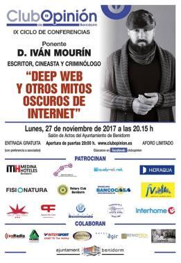 Conferencia de Iván Mourín en el Club de Opinión -Lunes, 27 noviembre 2017 Salón Actos Ayuntamiento Benidorm
