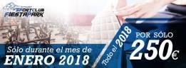 Sólo durante el mes de enero 2018 todo el año por sólo 250 € en Sport Club Fiesta Park
