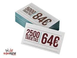 Espai Digital Imprenta -500 tarjetas por 84 € y 2500 tarjetas por 64 €