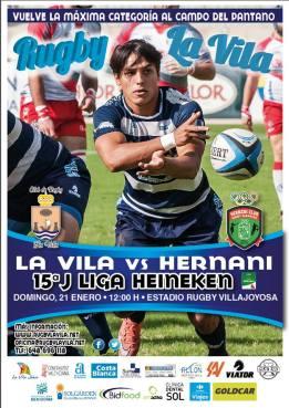 La Vila vs Hernani 15ª Jornada Liga Heineken Rugby -Campo del Pantano, 21 enero 2018