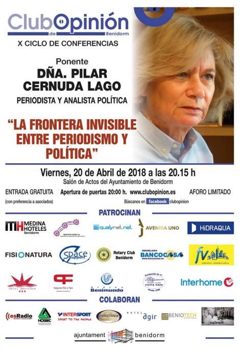 Conferencia de Pilar Cernuda en el Club de Opinión -Viernes, 20 abril 2018