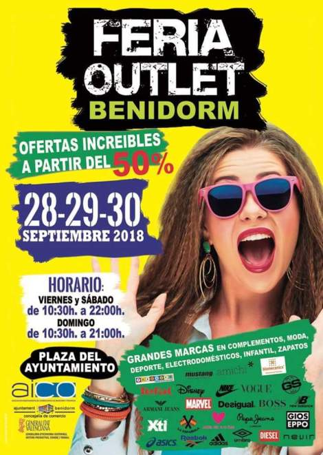 Feria Outlet Benidorm -del 28 al 30 septiembre 2018