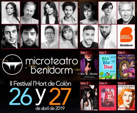 Microteatro a Benidorm -26 y 27 abril 2019 a l´Hort de Colón