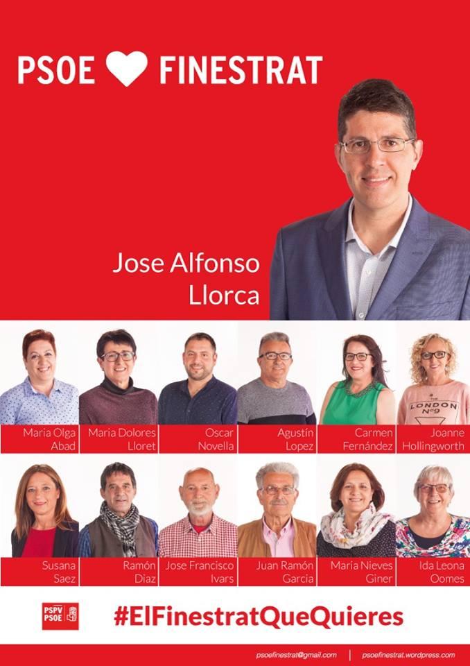 PSOE Finestrat -El Finestrat que quieres