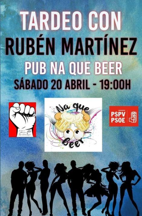 Tardeo con Rubén Martínez -Pub Na que beer, sábado 20 abril 2019 19h