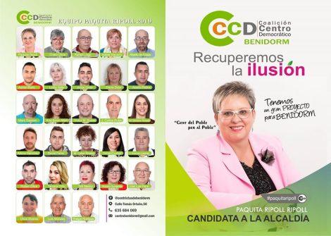 Equipo de Paquita Ripoll, candidatura de CCD a la Alcaldía de Benidorm