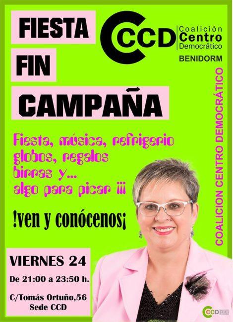 Fiesta Fin de Campaña CCD -Viernes, 24 mayo 2019 de 21 a 23´50 h