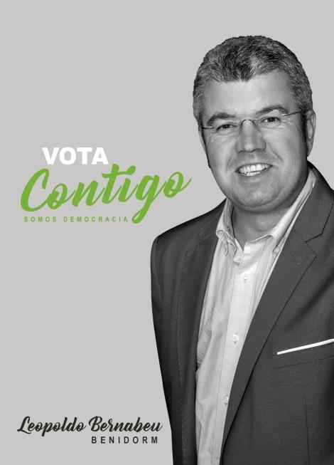 Vota CONTIGO. Leopoldo Bernabeu