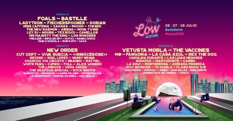 Low Festival 2019 -26 al 28 julio en Ciudad Deportiva Guillermo Amor de Benidorm