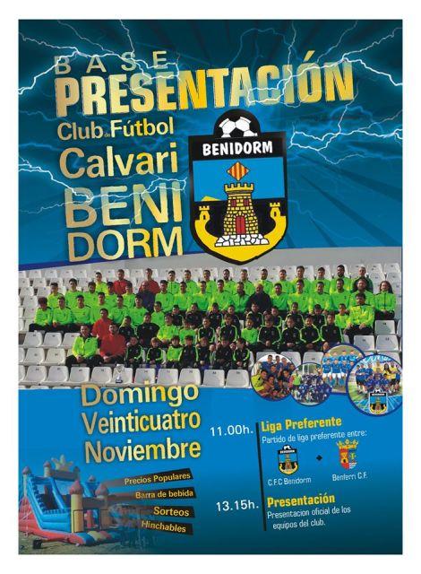 Presentación del CF Calvari Benidorm Temporada 2019-2020. Estadio Guillermo Amor, domingo 24 noviembre 2019