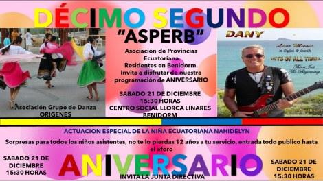 12 Aniversario de ASPERB -Sábado, 21 diciembre 2019