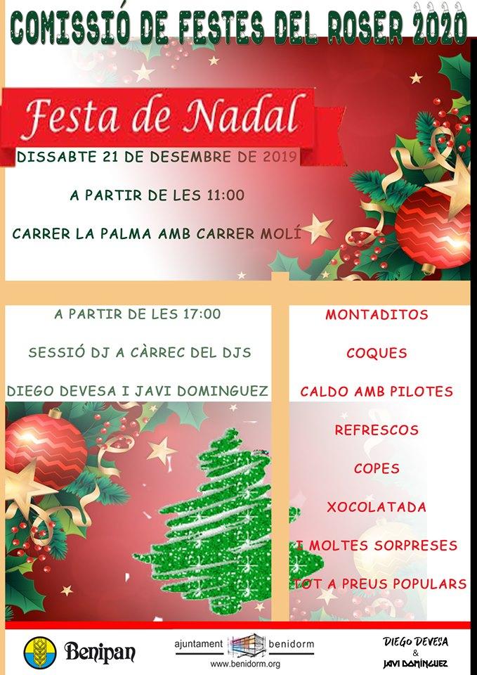 Festa de Nadal de la Comissió de Festes del Roser 2020 -Carrer La Palma amb Carrer Molí, dissabte 21 desembre 2019