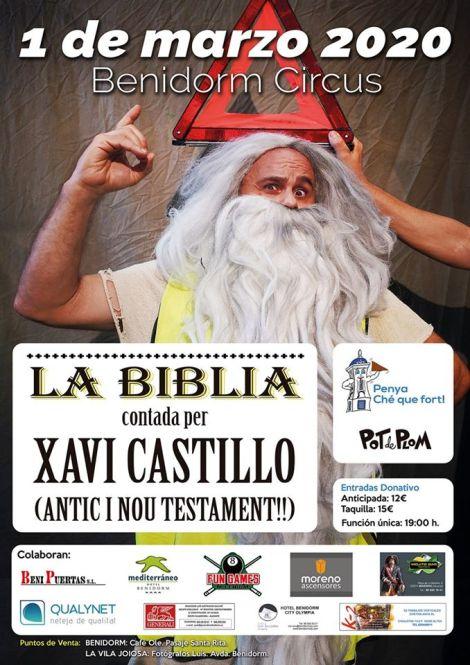 La Biblia contada por Xavi Castillo -1 de marzo 2020 en Benidorm Circus