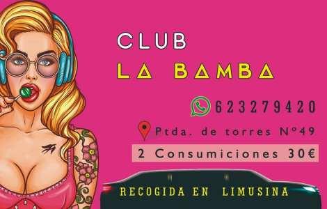 Club La Bamba. Recogida en limusina